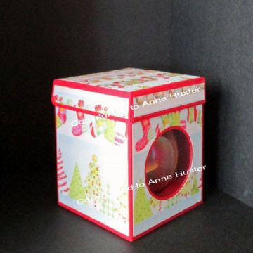 80mm Bauble/Ornament Box with Lift Back Lid Template